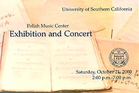 Manuscript Exhibition Concert October 2000