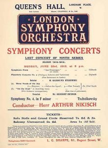 Flyer for the 1913 London premiere of Piano Concerto No. 2. PMC.