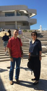 State Archives visiting scholars Anna Czajka & Robert Gorski at Getty Museum, summer 2017